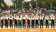 New Zealand are crowned champions and win gold during the final of the medal competition of the Rugby Sevens between New Zealand and Australia held at Delhi University as part of the XIX Commonwealth Games in New Delhi, India on the 12 October 2010..Photo by:  Ron Gaunt/photosport.co.nz