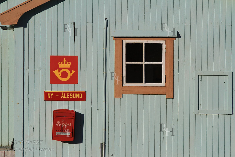 Post office at the international science village of Ny-Alesund on Spitsbergen island is the northernmost in world; Svalbard, Norway.