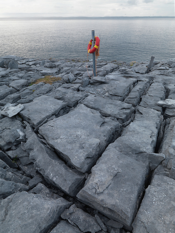 Ireland western coast at Black Head Burren region limestone lanscape