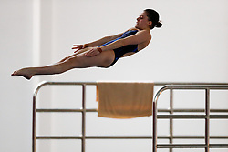 Georgia Ward of Dive London Aquatics Centre competes in the Womens 10m Platform Final - Photo mandatory by-line: Rogan Thomson/JMP - 07966 386802 - 21/02/2015 - SPORT - DIVING - Plymouth Life Centre, England - Day 2 - British Gas Diving Championships 2015.