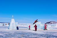 Mongolie, province de Khovsgol, lac Khovsgol, festival des glaces, ice festival // Mongolia, Khovsgol province, Khovsgol lake, ice festival