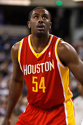 March 7, 2011; Sacramento, CA, USA;  Houston Rockets power forward Patrick Patterson (54) before a free throw against the Sacramento Kings during the second quarter at the Power Balance Pavilion. Houston defeated Sacramento 123-101.