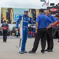 May 18, 2018 - Concord, North Carolina, USA: Ricky Stenhouse, Jr (17) gets ready to practice for the Monster Energy Open at Charlotte Motor Speedway in Concord, North Carolina.