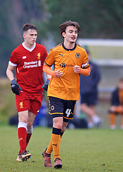 WOLVERHAMPTON, ENGLAND - Tuesday, December 19, 2017: Wolverhampton Wanderer's captain Dan McKenna during an Under-18 FA Premier League match between Wolverhampton Wanderers and Liverpool FC at the Sir Jack Hayward Training Ground. (Pic by David Rawcliffe/Propaganda)