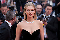 Toni Garrn at the gala screening for the film Loving at the 69th Cannes Film Festival, Monday 16th May 2016, Cannes, France. Photography: Doreen Kennedy