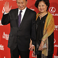 HONG KONG - MARCH 23:  Hong Kong director John Woo and his wife Annie arrive to the Asian Film Awards 2009 at the Hong Kong Convention and Exhibition Centre on March 23, 2009 in Hong Kong.  Photo by Victor Fraile / studioEAST