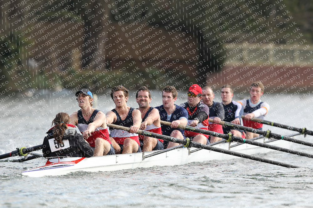2012.02.25 Reading University Head 2012. The River Thames. Division 1. City of Oxford Rowing Club IM3 8+