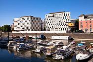 Germany, Cologne, the buildings Pier 15, headquarter of the ifb AG.<br /> <br /> Deutschland, Koeln, die Gebaeude Pier 15, Hauptsitz der ifb AG.
