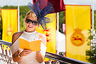 Lauren Frith at the Qatar Goodwood Festival, better known as Glorious Goodwood. Day Three.<br /> Picture date: Thursday July 30, 2015.<br /> Photograph by Christopher Ison &copy;<br /> 07544044177<br /> chris@christopherison.com<br /> www.christopherison.com