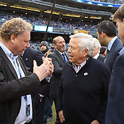 New England Patriots owner Robert Kraft (center), on the sideline with NYCFC officials before the New York City FC v New England Revolution, inaugural MSL football match at Yankee Stadium, The Bronx, New York,  USA. 15th March 2015. Photo Tim Clayton