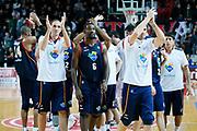 DESCRIZIONE : Varese Lega A 2013-14 Cimberio Varese Acea Virtus Roma<br /> GIOCATORE : Team Acea Virtus Roma<br /> CATEGORIA : Ritratto Esultanza<br /> SQUADRA : Acea Virtus Roma<br /> EVENTO : Campionato Lega A 2013-2014<br /> GARA : Cimberio Varese Acea Virtus Roma<br /> DATA : 12/01/2014<br /> SPORT : Pallacanestro <br /> AUTORE : Agenzia Ciamillo-Castoria/G.Cottini<br /> Galleria : Lega Basket A 2013-2014  <br /> Fotonotizia : Varese Lega A 2013-14 Cimberio Varese Acea Virtus Roma<br /> Predefinita :