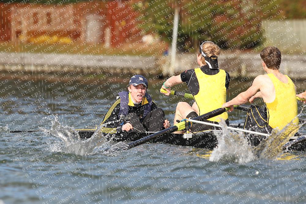 2012.02.25 Reading University Head 2012. The River Thames. Division 1. Hampton School Boat Club IM1 8+