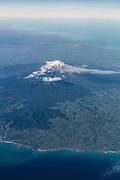 Mount Taranaki aerial view