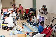 Migranti accampati alla stazione di Ventimiglia  vicino al confine con la Francia. Ventimiglia, 16 giugno 2015. Guido Montani / OneShot<br /> <br /> Migrants displaced in the station of Ventimiglia close to the France boarder. Ventimiglia, 16 june 2015. Guido Montani / OneShot