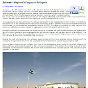 "Photo essay ""Saharawi: Maghreb's forgotten refugees"" published in Photography News"