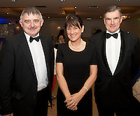 John McHugo, Breada Crehan Roche and Mick Roche at the Ability West Best Buddy Ball and award night at the Menlo Park Hotel Galway. Photo:Andrew Downes.