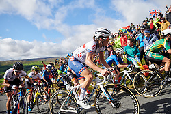 Lizzie Deignan (GBR) on the Lofthouse climb at UCI Road World Championships 2019 Women's Elite Road Race a 149.4 km road race from Bradford to Harrogate, United Kingdom on September 28, 2019. Photo by Sean Robinson/velofocus.com