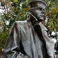 The Lone Sailor Statue in Fort Lauderdale, Florida<br /> The Lone Sailor Statue was first created by artist Stanley Bleifeld in 1987 and erected at the United States Navy Memorial in Washington D.C. This replica in the Esplanade Park near New River in downtown Fort Lauderdale is one of a dozen that have been placed around the U.S.  They are a tribute to all of the people who have served in &ldquo;our Sea Services for securing our democracy.&rdquo;