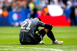 Kelle Roos of Derby County sits on the floor dejected after losing in the Sky Bet Championship Playoff Final  - Mandatory by-line: Robbie Stephenson/JMP - 27/05/2019 - FOOTBALL - Wembley Stadium - London, England - Aston Villa v Derby County - Sky Bet Championship Play-off Final