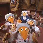Wombles in their burrow from the animation collection.