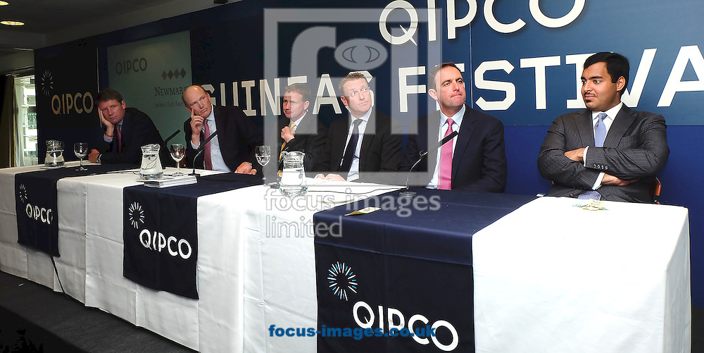 The panel for the Quipo Guineas Lunch at Newmarket Rowley, Newmarket<br /> Picture by John Hoy/Focus Images Ltd +44 7516660607<br /> 29/04/2014