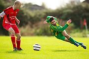 25/09/2016, Leinster Junior Cup Soccer at St Marys Park, Navan.<br /> OMP United vs Navan Town<br /> Paul McGuirk (OMP United) &amp; Nathan O`Brien (Navan Town)<br /> Photo: David Mullen /www.cyberimages.net / 2016<br /> ISO: 500; Shutter: 1/1328; Aperture: 4; <br /> File Size: 2.5MB<br /> Print Size: 8.6 x 5.8 inches