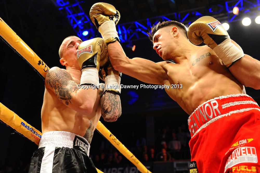 Chad Gaynor stops Calum Cooper in Quarter Final Three at Welterweights 111, Civic Hall Wolverhampton. on the 19th January 2013. Matchroom Sport/ Prizefighter © Leigh Dawney 2013