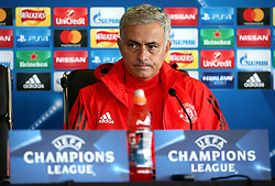 Manchester United manager Jose Mourinho speaks during the press conference - Mandatory by-line: Matt McNulty/JMP - 11/09/2017 - FOOTBALL - AON Training Complex - Manchester, England - Manchester United v FC Basel - Press Conference & Training - UEFA Champions League - Group A