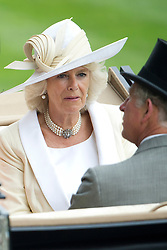 © London News Pictures. 18/06/2013. Ascot, UK.  HRH Queen Elizabeth II arriving for day one of Royal Ascot at Ascot racecourse in Berkshire, on June 18, 2013.  The 5 day showcase event,  which is one of the highlights of the racing calendar, has been held at the famous Berkshire course since 1711 and tradition is a hallmark of the meeting. Top hats and tails remain compulsory in parts of the course. Photo credit should read: Ben Cawthra/LNP