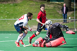 Southgate v Brighton & Hove - Men's Hockey League - East Conference, Trent Park, London, UK on 26 March 2017. Photo: Simon Parker