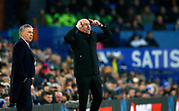 Football - 2019 / 2020 Premier League - Everton vs. Burnley<br /> <br /> Sean Dyce manager of Burnley and Carlo Ancelotti manager of Everton at Goodison Park.<br /> <br /> COLORSPORT/LYNNE CAMERON
