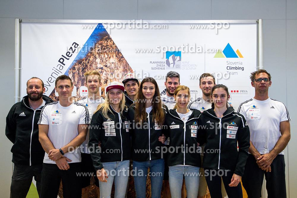 Team Slovenia at press conference of PZS before IFSC Climbing World Championships Hachioji (JPN) 2019, on August 1, 2019 in PZS, Ljubljana, Slovenia. Photo by Matic Klansek Velej / Sportida