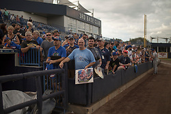 August 10, 2017 - Florida, U.S. - CHARLIE KAIJO   |   Times.Fans wait for Tim Tebow to sign autographs ahead of a game between St. Lucie Mets and Tampa Yankees at Steinbrenner Field Tampa, Fla. on Thursday, August 10, 2017. (Credit Image: © Charlie Kaijo/Tampa Bay Times via ZUMA Wire)