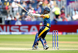 Sri Lanka's Avishka Fernando hits a boundary during the ICC Cricket World Cup group stage match at The Riverside Durham, Chester-le-Street.