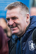 Dean Smith, Head Coach of Aston Villa FC arriving at the stadium ahead of the Premier League match between Brighton and Hove Albion and Aston Villa at the American Express Community Stadium, Brighton and Hove, England on 18 January 2020.