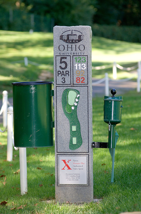 17003Ohio University Golf Course T-markers w/corporate sponsors for each 9 holes: 6/02/05