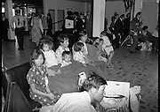 Vietnam Refugees Arrive .09/08/1979.08/09/1979.9th August 1979.Some of the refugees in the Customs Hall at Dublin Airport.