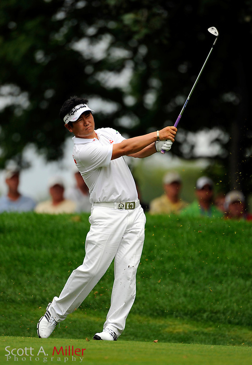 Aug 16, 2009; Chaska, MN, USA; Y.E. Yang (KOR) hits an approach shot during the final round of the 2009 PGA Championship at Hazeltine National Golf Club.  ©2009 Scott A. Miller
