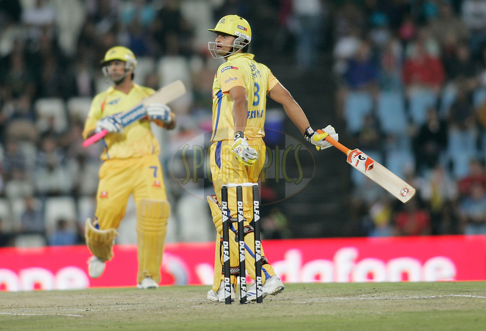 CENTURION, SOUTH AFRICA - 30 April 2009.  during the  IPL Season 2 match between the Rajasthan Royals and the Chennai Superkings held at  in Centurion, South Africa..Chennai Super Kings player Suresh Patel in action