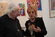 EDWARD LUCIE-SMITH; JUDY CHICAGO, Opening of Frieze Masters. Regent's Park. London. 15 October 2013.