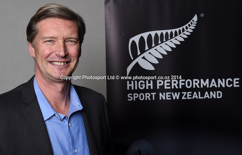 High Performance Sport New Zealand Chief Executive Alex Baumann at the HPNZ Coach Recognition Dinner, Waipuna Lodge, Auckland, New Zealand. Thursday 2 October 2014. Photo: Andrew Cornaga / www.photosport.co.nz