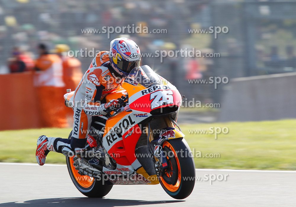 17.05.2015, Circuit, Le Mans, FRA, MotoGP, Grand Prix von Frankreich, im Bild 26 Dani Pedrosa / Spanien // during the MotoGP Monster Energy France Grand Prix at the Circuit in Le Mans, France on 2015/05/17. EXPA Pictures &copy; 2015, PhotoCredit: EXPA/ Eibner-Pressefoto/ Stiefel<br /> <br /> *****ATTENTION - OUT of GER*****