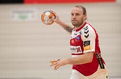 Henrik Møllgaard (Aalborg Håndbold) under kampen i Herrehåndbold Ligaen mellem Nordsjælland Håndbold og Aalborg Håndbold den 27. november 2019 i Helsinge Hallen (Foto: Claus Birch).