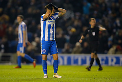 Anthony Knockaert of Brighton & Hove Albion disappointed at a missed Brighton & Hove Albion attempt - Mandatory by-line: Jason Brown/JMP - 24/01/2017 - FOOTBALL - Amex Stadium - Brighton, England - Brighton & Hove Albion v Cardiff City - Sky Bet Championship
