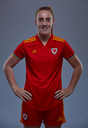 NEWPORT, WALES - Friday, November 8, 2019: Wales' Ffion Llewellyn during a photo shoot with the new 2019/20 Adidas home kit at Rodney Parade. (Pic by David Rawcliffe/Propaganda)