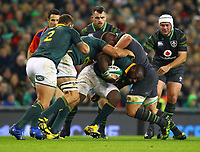 Rugby Union - 2017 Guinness Series (Autumn Internationals) - Ireland vs. South Africa<br /> <br /> South Africa's Tendai Mtawarira in action against Ireland's CJ Stander, at the Aviva Stadium.<br /> <br /> COLORSPORT/KEN SUTTON