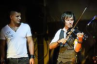German Dmitriev, Dankie Navicula and Tariq at Betelnut, Ubud, Bali, Indonesia, 27/07/2012.