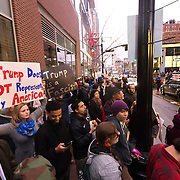 Protest of Donald Trump campaign for President outside a Trump campaign rally at the Midland Theatre in downtown Kansas City, Missouri on Saturday, March 12, 2016.