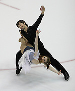 06 Aug 2009: Shannon Wingle of the Artic Figure Skating Club and Tim McKernan of the Broadmoor Figure Skating Club skate in the Senior Free Dance at the 2009 Lake Placid Ice Dance Championships in Lake Placid, N.Y.   © Todd Bissonette