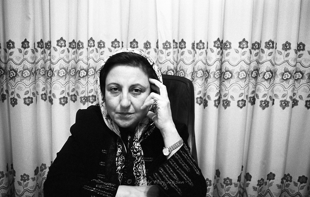 Nobel Peace Prize winner (2003) Shirin Ebadi in her office. Lawyer and human rights activist engaged in the struggle for equal rights in Iran. Tehran, Iran, 2007